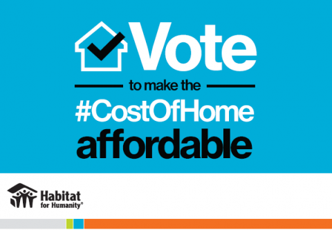 Vote to make the cost of home affordable!