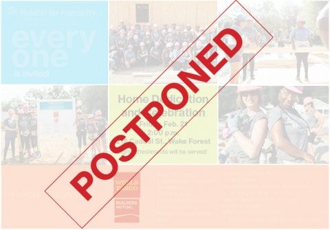 dedication postponed