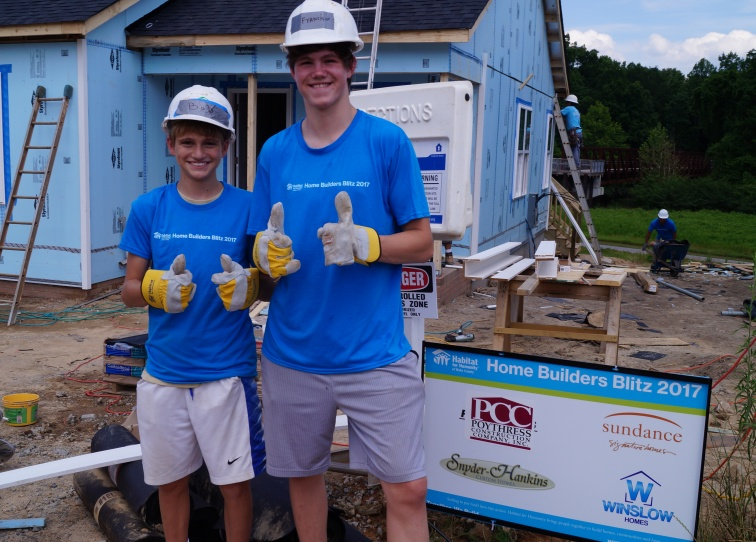 Builder's Blitz Volunteers Habitat for Humanity of Wake County