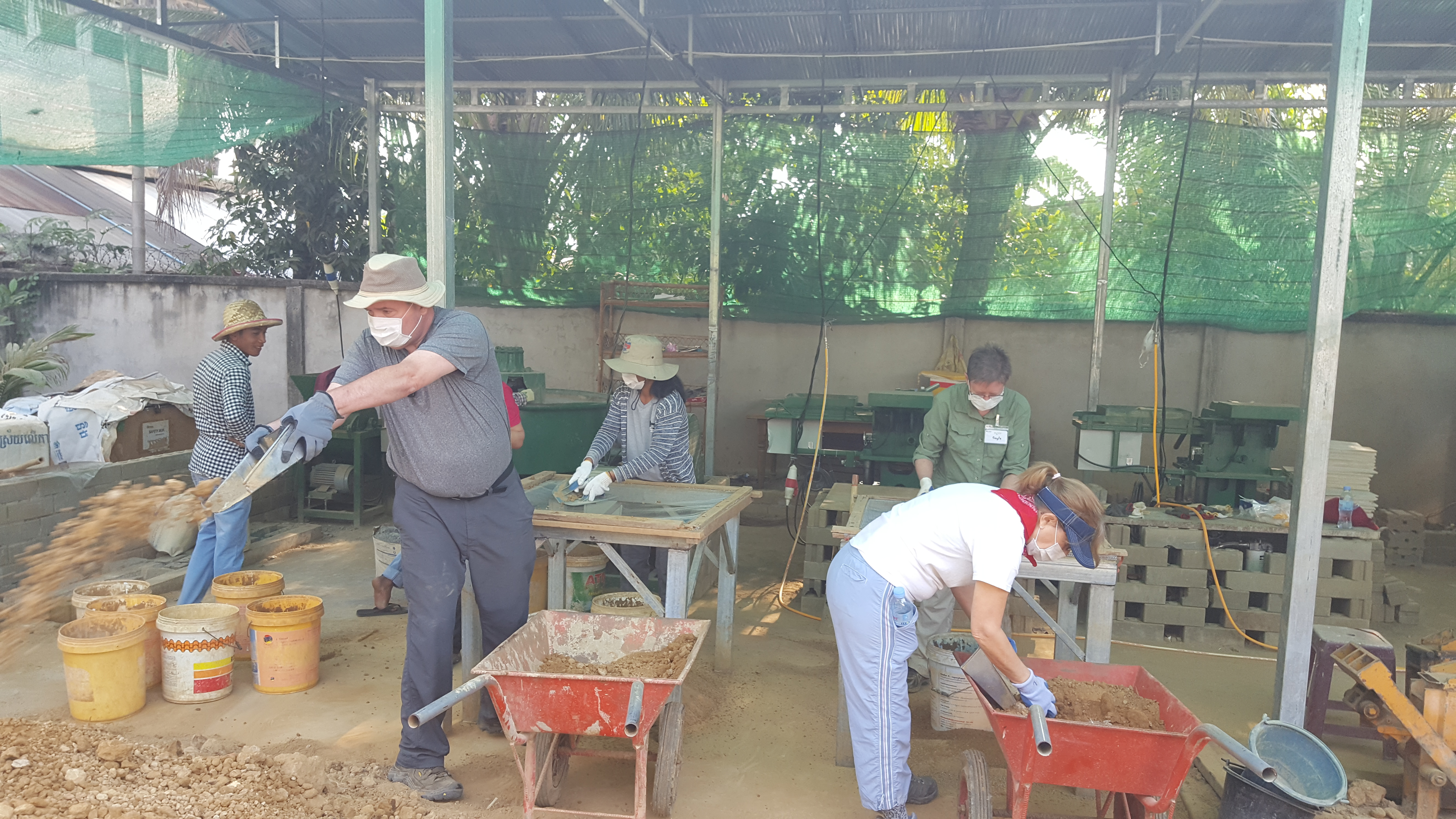 Cambodia brick making